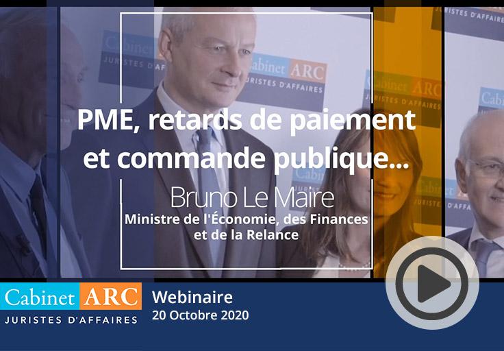Accès aux commandes publiques par les PME, comment la faciliter ? Bruno Le Maire le 20 Octobre 2020