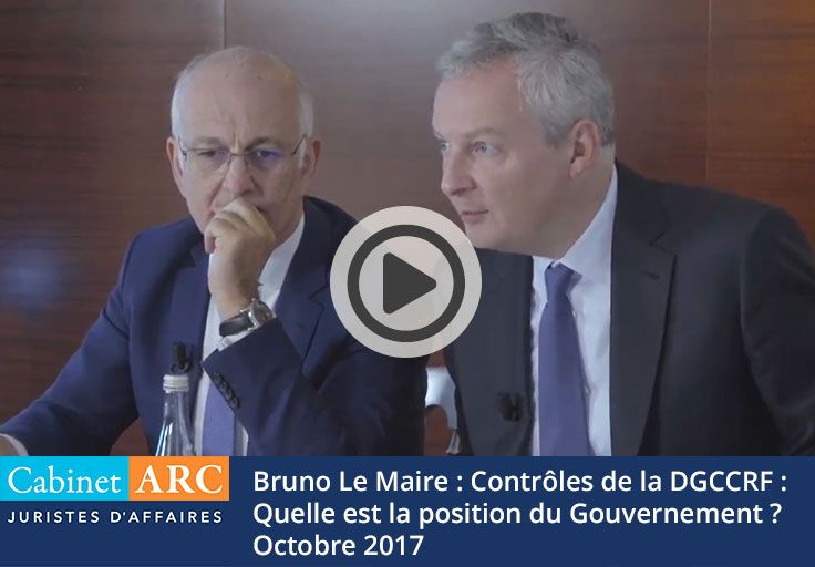 Bruno Le Maire answers a question about the controls of the DGCCRF on the payment deadlines.