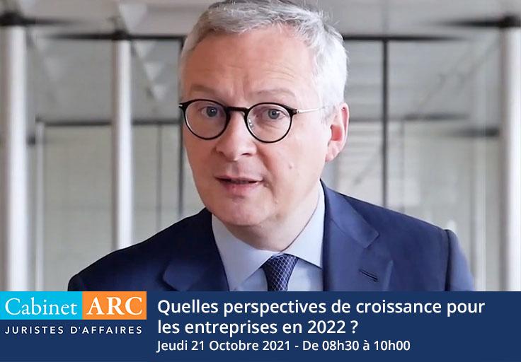 Bruno Le Maire, invité du Cabinet ARC le 21 Octobre 2021