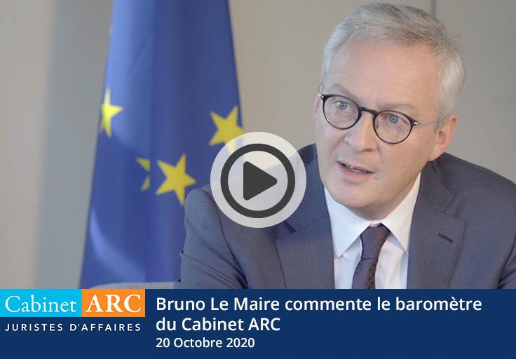 Bruno Le Maire commente les résultats du baromètre 2020 relatif aux délais de paiement et au recouvrement de céances