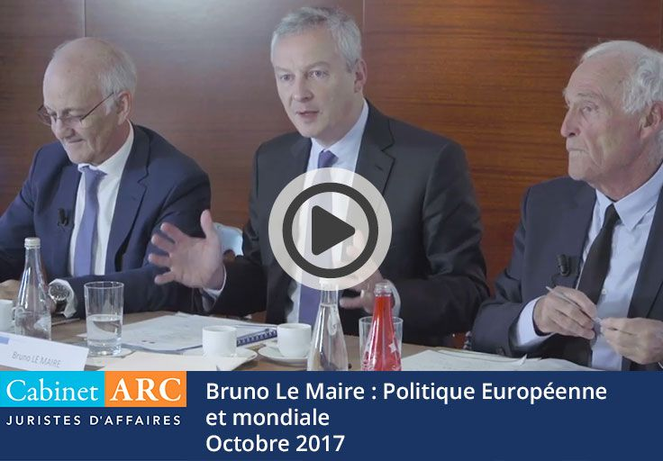 Recommendations for European and global policy for economic recovery by Bruno Le Maire
