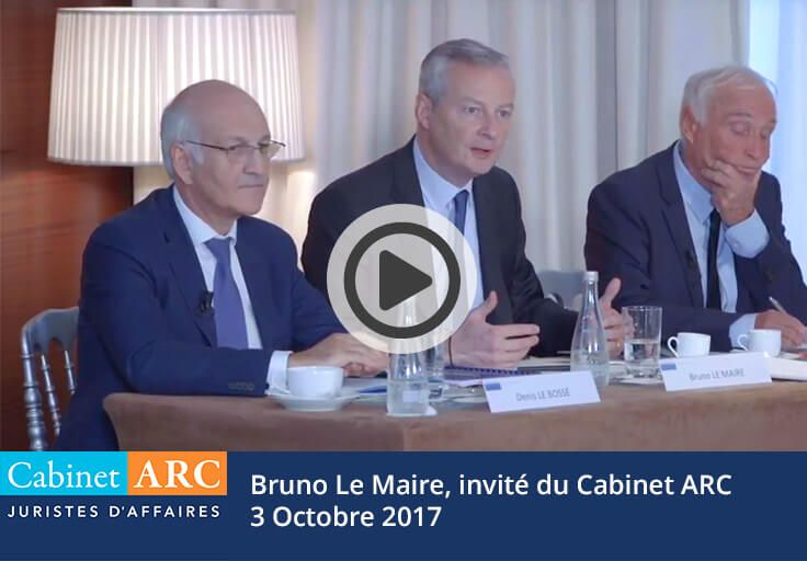 Bruno Le Maire, guest of ARC Cabinet