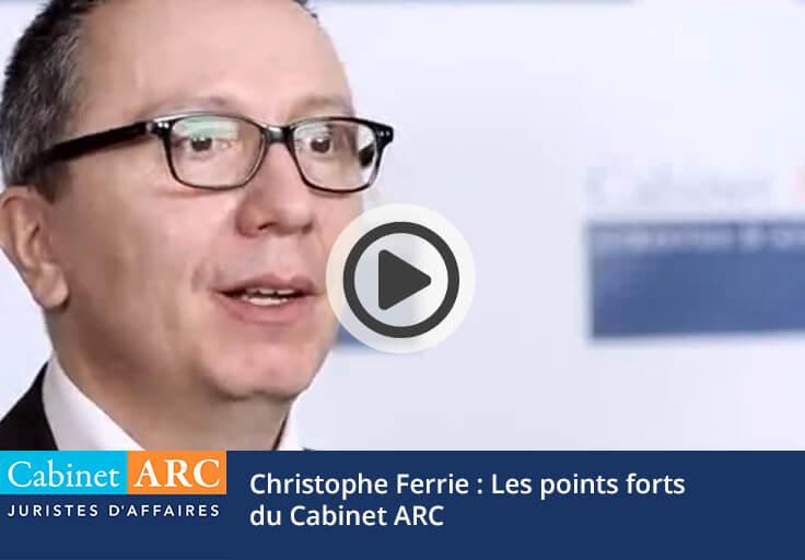 Christophe Ferrie - Syngenta - Les points forts du Cabinet ARC en matière de recouvrement