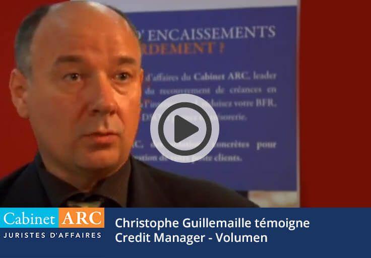 Christophe Guillemaille témoigne de la gestion du recouvrement de créances de Volumen par le Cabinet ARC