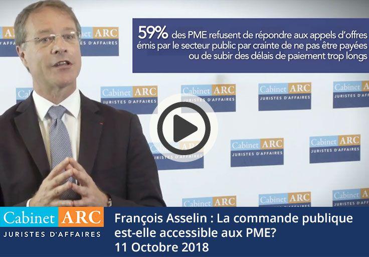 François Asselin : La commande publique accessible aux PME?