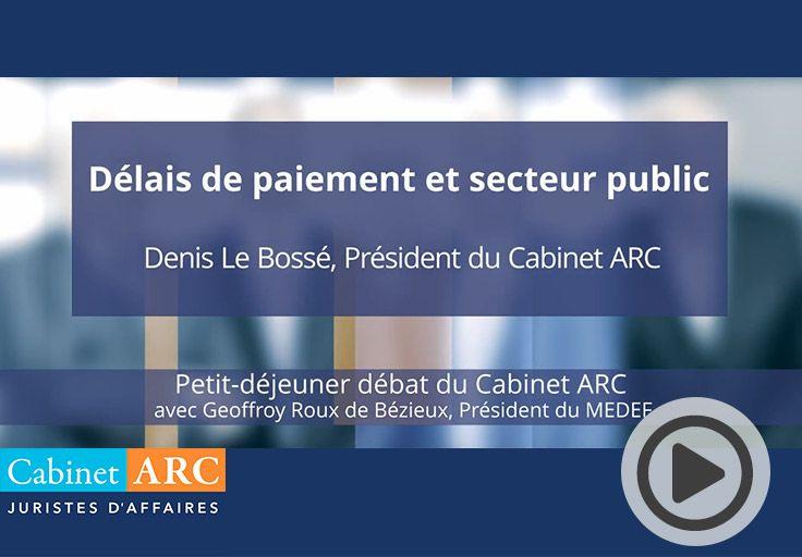 Denis Le Bossé aborde les réticences des PME françaises à répondre aux appels d'offres du secteur public lors du petit-déjeuner débat du 22 Octobre 2019