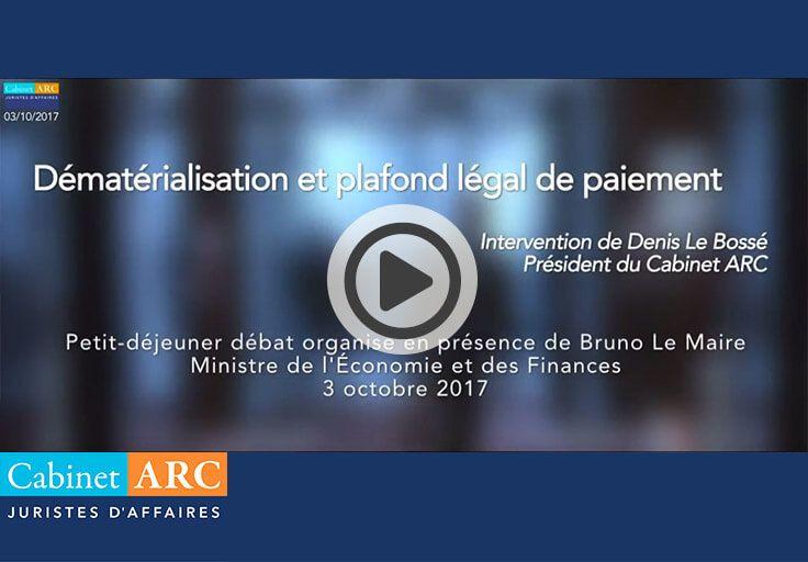 Dématerialisation et plafond légal du délai de paiement
