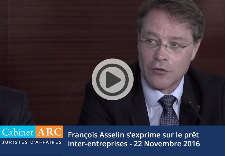 François Asselin s'exprime sur le prêt inter-entreprises le 22 novembre 2016