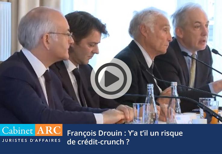 François Drouin et le risque de crédit-crunch