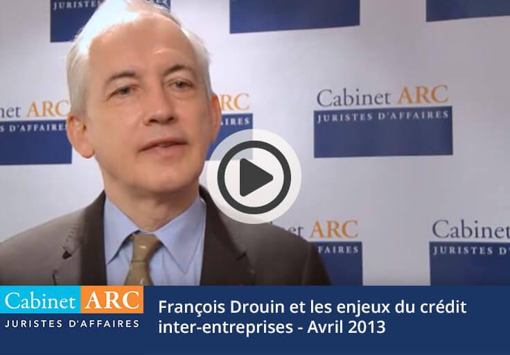 François Drouin et le crédit inter-entreprises