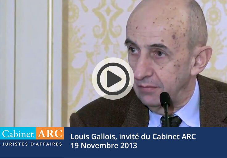 Louis Gallois, guest of Cabinet ARC in 2013 to express himself on the competitiveness of French companies