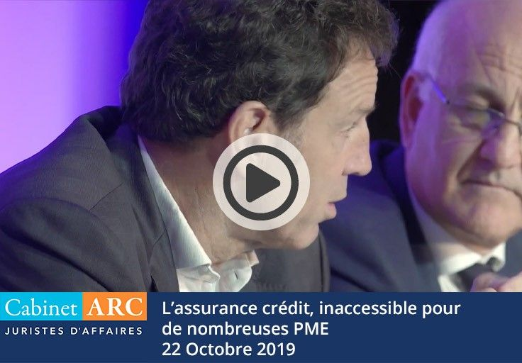 Geoffroy Roux de Bézieux broaches the subject of credit insurance, a device too often inaccessible to SMEs, during his speech on October 22, 2019