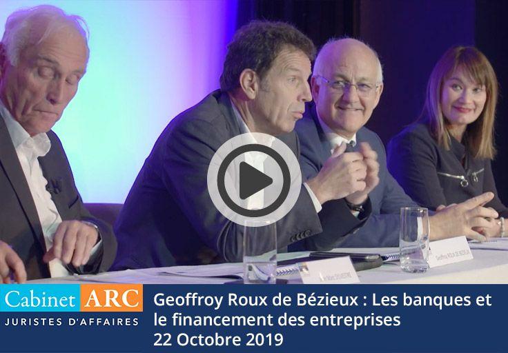 Geoffroy Roux de Bézieux commente le rôle des banques dans le financement de la trésorerie des entreprises lors du petit-déjeuner débat du 22 octobre 2019