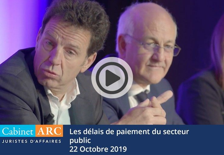 Geoffroy Roux de Bézieux on the subject of late payments in the public sector and their development, during his participation in the breakfast debate on October 22, 2019