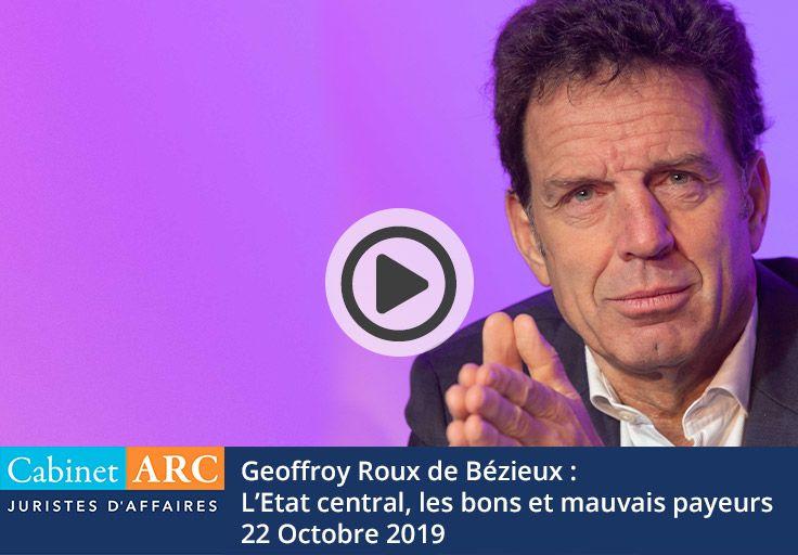 L'Etat Central, les bons et mauvais payeurs par Geoffroy Roux de Bézieux, le 22 Octobre 2019