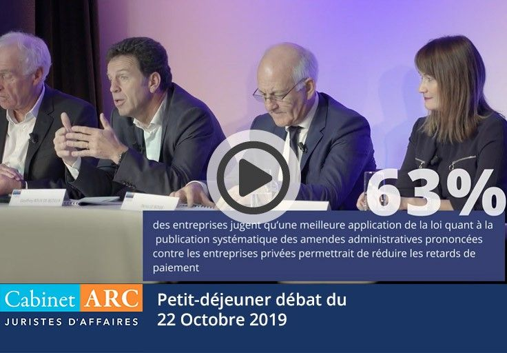 Geoffroy Roux de Bézieux comments on the value of the Name & Shame system during the breakfast debate on October 22, 2019