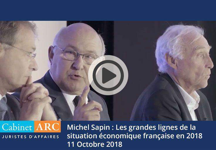 Michel Sapin nous donne sa vision de la situation économique française en 2018