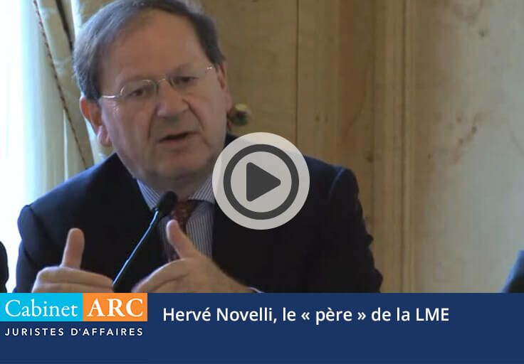 Hervé Novelli, à l'origine de la loi LME