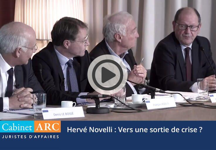 Hervé Novelli: Vers une sortie de crise économique?
