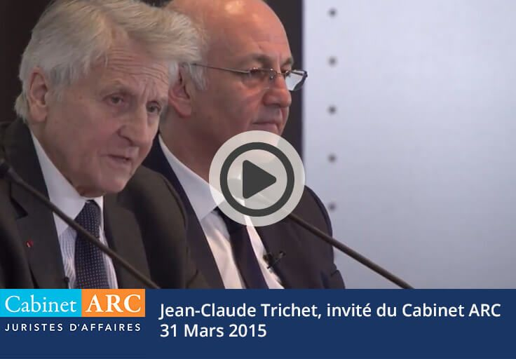 Jean-Claude Trichet, guest of the Cabinet ARC debt collection agency