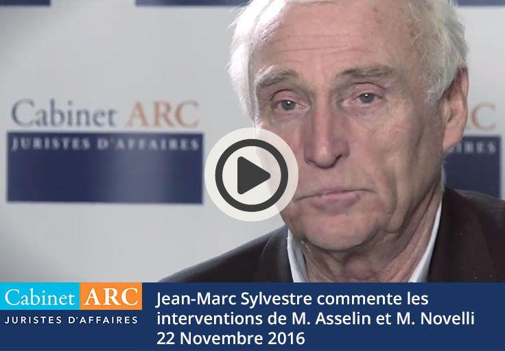 Jean-Marc Sylvestre au sujet des interventions de M. Asselin et M. Novelli sur les délais de paiement en Novembre 2016
