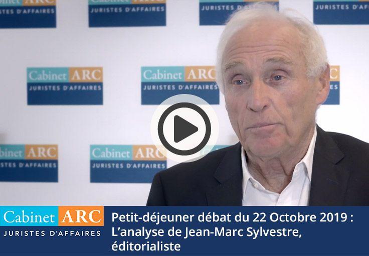 Jean-Marc Sylvestre commente l'intervention de Geoffroy Roux de Bézieux, le 22 octobre 2019