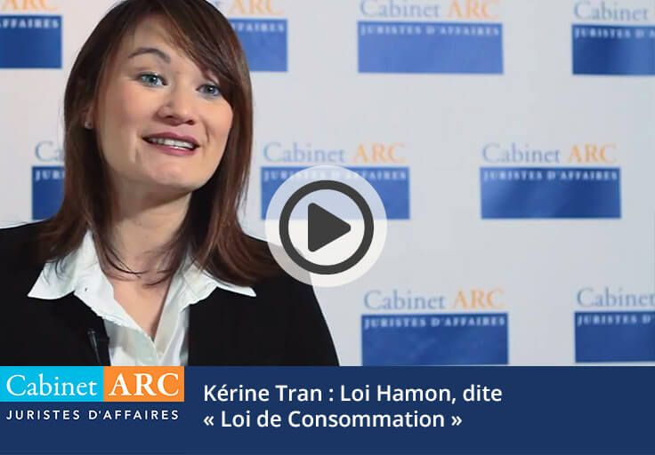 Kérine Tran on the Hamon law, called Consumption Law, in 2013