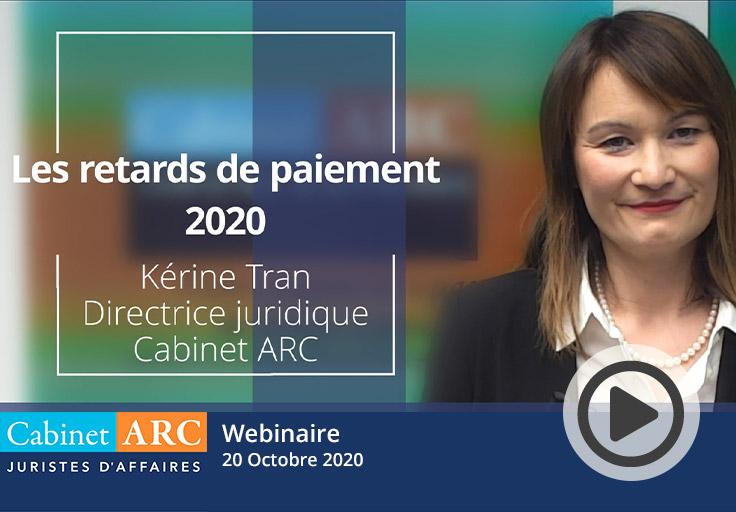 Kérine Tran présente les résultats du baromètre Cabinet ARC/IFOP et notamment l'évolution des retards de paiement en 2020