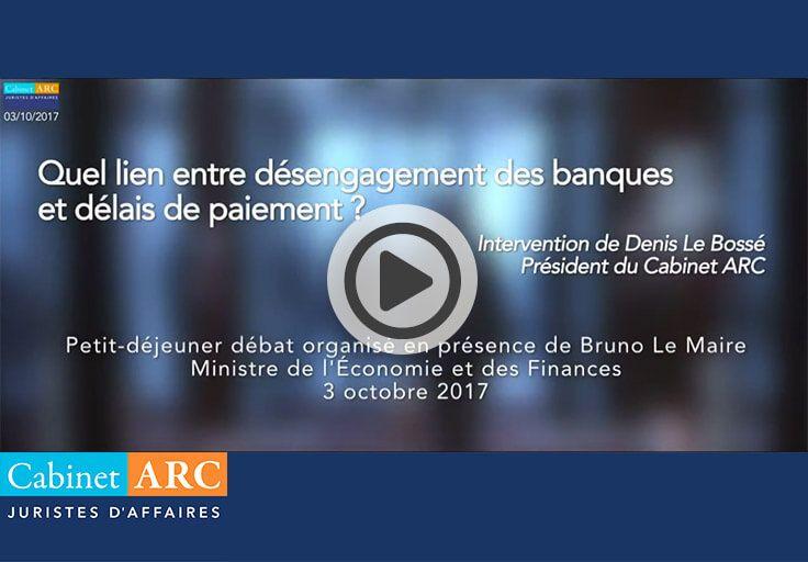 Lien entre le désengagement des banques et les délais de paiement, extrait du baromètrre ARC/IFOP