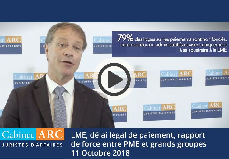 LME, legal payment period and balance of power between SMEs and large groups