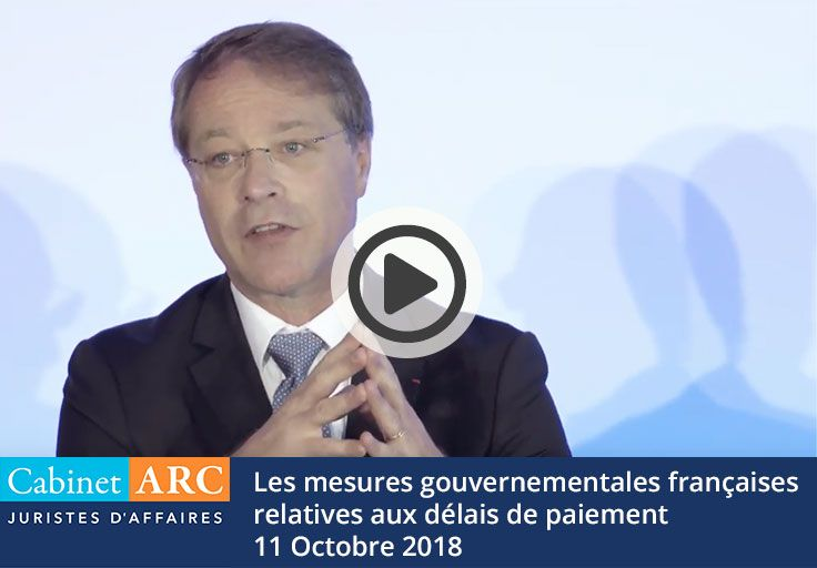 Analysis of French government measures in favor of payment delays by François Asselin in October 2018