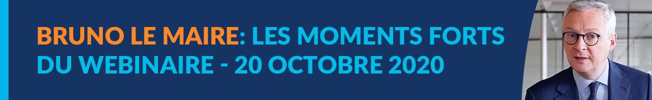 Les vidéos du webinaire Cabinet ARC d'octobre 2020 en présence de Bruno Le Maire