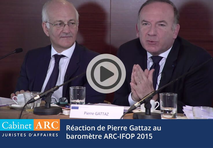 Pierre Gattaz comments on the ARC / IFOP barometer, 2015 edition