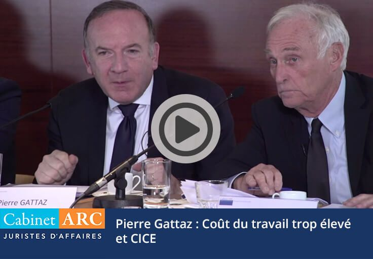 Pierre Gattaz on the cost of work too high and the CICE in 2015