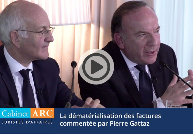 The dematerialization of invoices approached by Pierre Gattaz