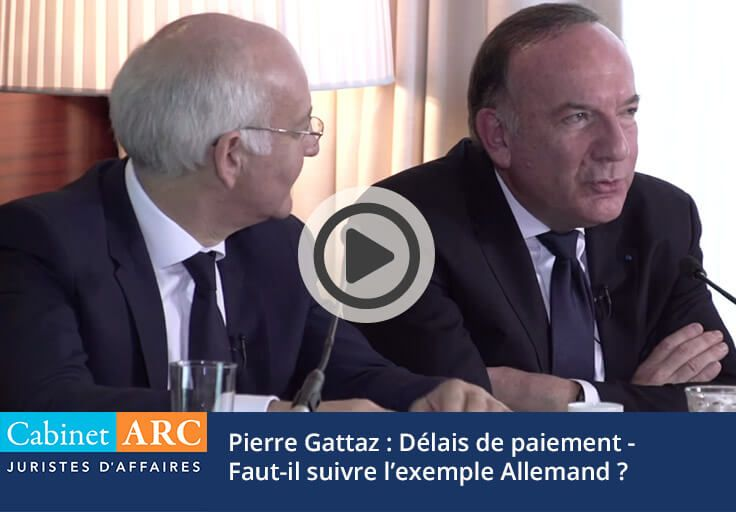 Pierre Gattaz compares the French model to the German model on payment terms