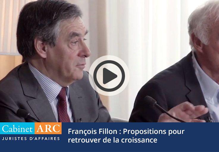 Propositions pour retrouver de la croissance par François Fillon