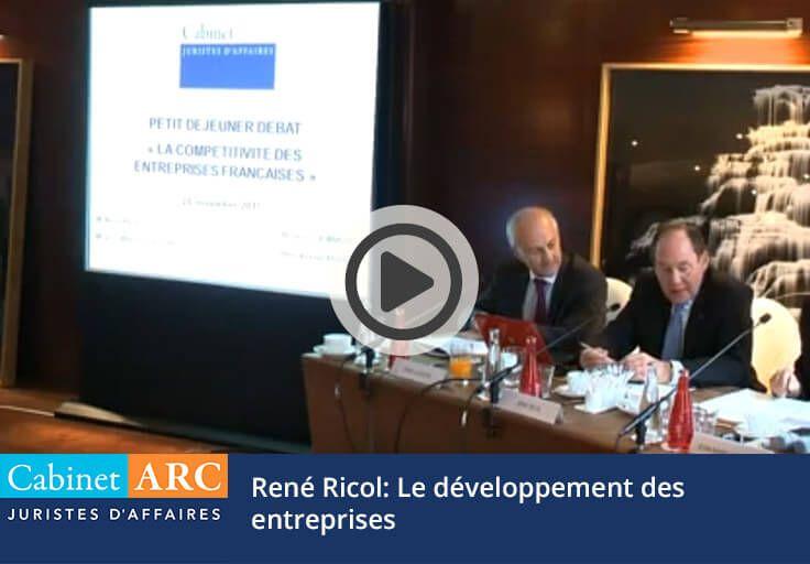 René Ricol nous fait part de son expertise sur le développemnt des entreprises