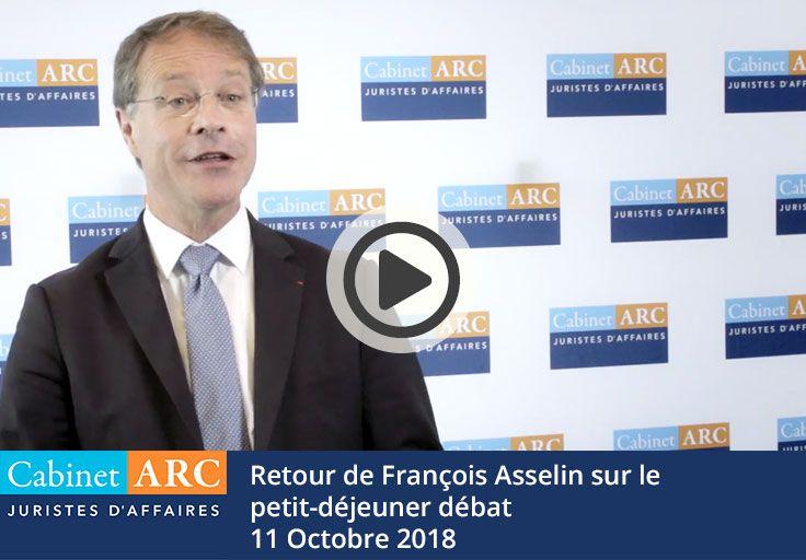 Retour de François Asselin sur le petit-déjeuner débat d'Octobre 2018