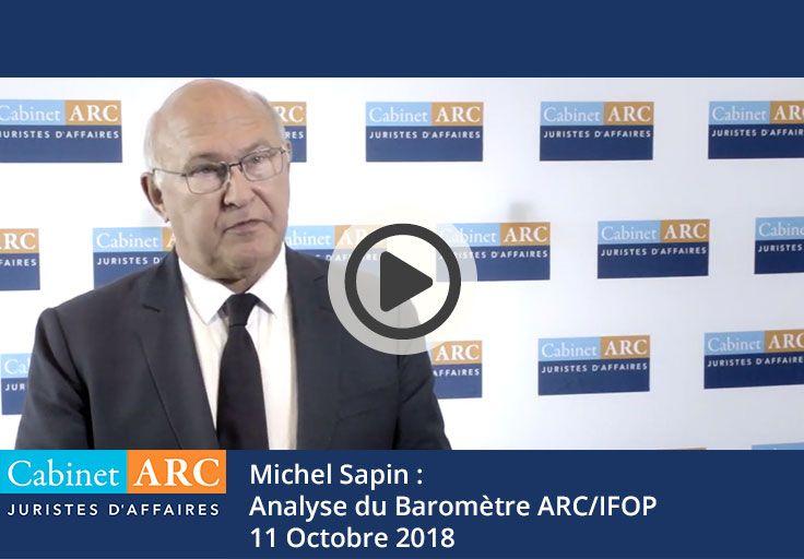 Michel Sapin commente l'édition 2018 du baromètre ARC/IFOP sur les délais de paiement