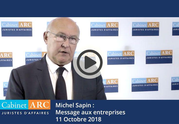 Le message aux entreprises de Michel Sapin en 2018