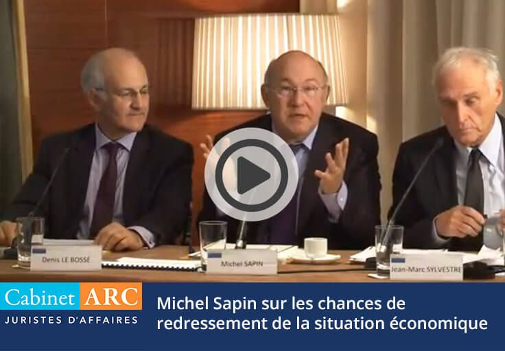 Michel Sapin was speaking in 2012 on the chances of recovery of the French economic situation