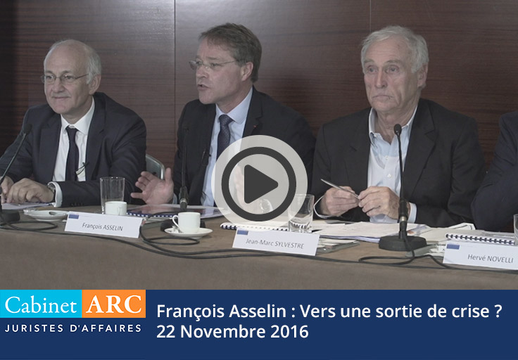 M. Asselin : Towards a way out of the crisis? - November 2016