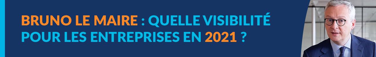 Webinaire d'octobre 2020 avec Bruno Le Maire au sujet de la visibilité des entreprises pour 2021